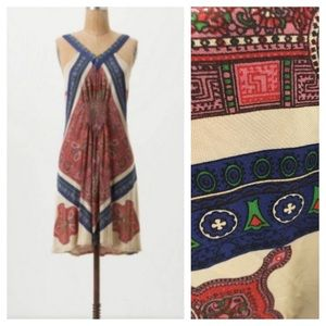 Anthropologie liefnotes paisley swing boho dress M